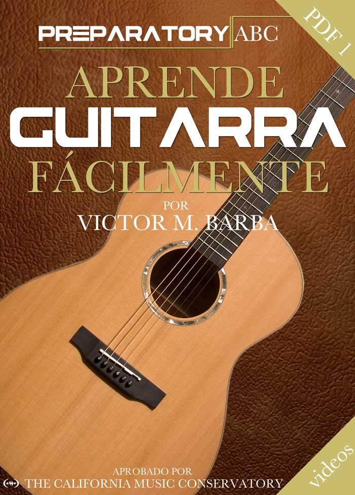 Aprende Guitarra Facilmente - Preparatorio ABC Portada del Libro