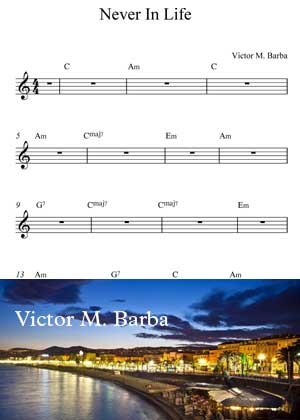 Never In Life By Victor M. Barba with Sheet music in PDF
