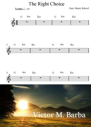 the Right Choice Sheet music in PDF By Victor M. Barba