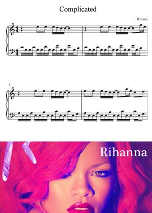 Complicated By Rhianna with sheet music PDF
