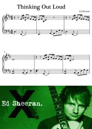 Thinking Out Loud By Ed Sheeran with sheet music in PDF