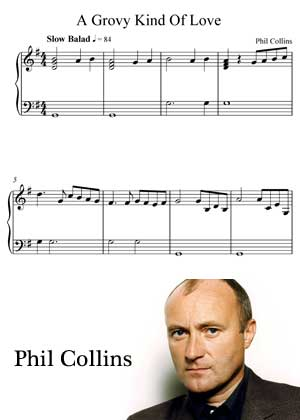 A Groove Kind Of Love By Phil Collins with sheet music in PDF and video tutorial