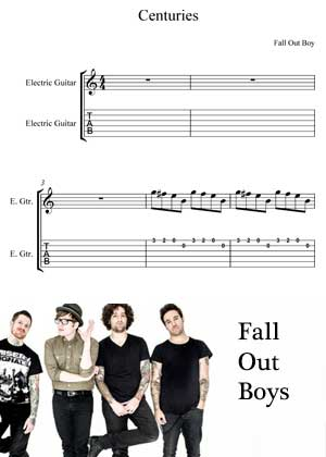 Centuries By Fall Out Boys with sheet music in PDF and video tutorial