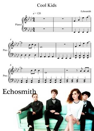 Cool Kids By Echosmith By Glick with sheet music in PDF and video tutorial