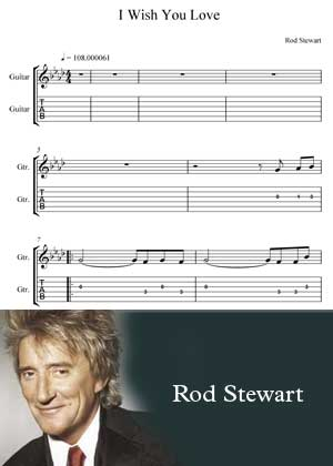 ID00048_I_Wish_You_Love By Rod Stewart with sheet music in PDF score and a video tutorial in songnes.com