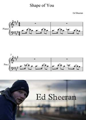 ID00052_Shape_Of_You By Ed Sheeran with sheet music in PDF score in songnes.com