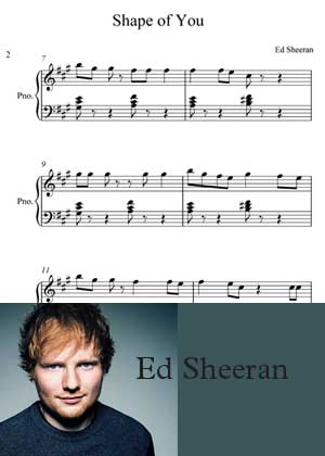 ID00053_Shape_Of_You_Easy By Ed Sheeran with sheet music in PDF score in songnes.com