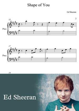 ID00054_Shape_Of_You_Super_Easy By Ed Sheeran with sheet music in PDF score in songnes.com