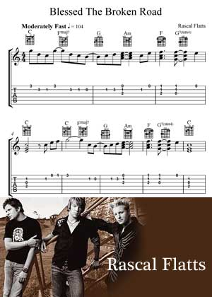 Blessed The Broken Road By Rascal Flatts with Sheet music in PDF