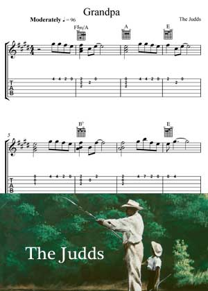 Grandpa By The Judds with Sheet music in PDF