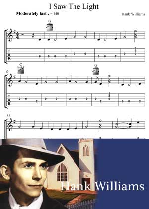 I Saw The Light By Hank Williams with Sheet music in PDF