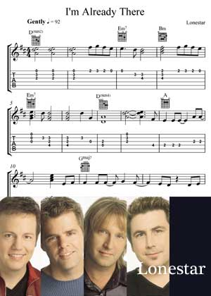 I'm Already There By Lonestar with Sheet music in PDF
