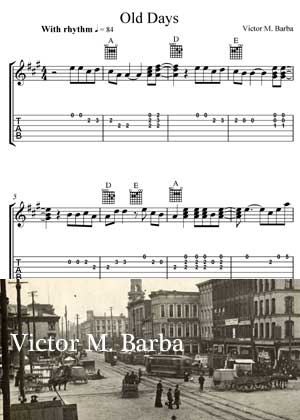 Old Days By Victor M. Barba with Sheet music in PDF