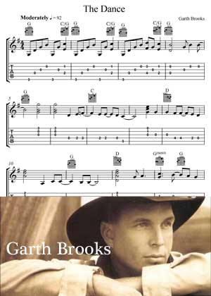 The Dance By Garth Brooks With Sheet Music in PDF