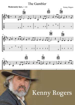 The Gambler By Kenny Rogers With Sheet Music in PDF