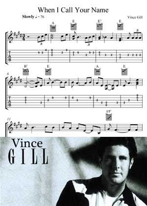 When I Call Your Name By Vince Gill With Sheet Music in PDF