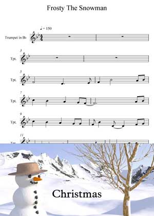ID15017_Frosty_The_Snowman with video tutorial and sheet music in PDF