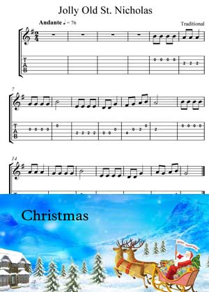 ID15025_Jolly_Old_Saint_Nicholas with video tutorial and sheet music in PDF