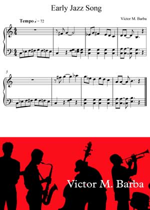 Early Jazz Song By Victor M. Barba with sheet music in PDF and video tutorial