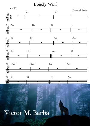 Lonely Wolf With Sheet Music PDF By Victor M. Barba