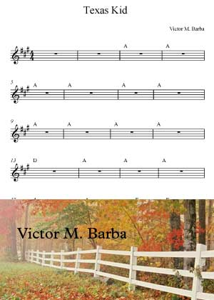 Texas Kid With Sheet Music PDF By Victor M. Barba