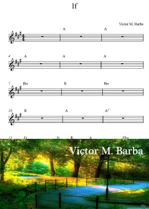 If With Sheet Music PDF By Victor M. Barba