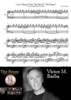 Love Theme With Sheet Music PDF By Victor M. Barba