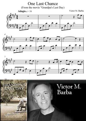 One Last Chance From The Movie Grandpa's Last Day With Sheet Music PDF By Victor M. Barba