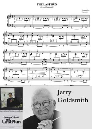The Last Run By Jerry Goldsmith with sheet music in PDF and a video Tutorial