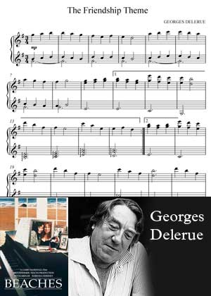The Friendship Theme By Georges Delerue with sheet music in PDF and video tutorial