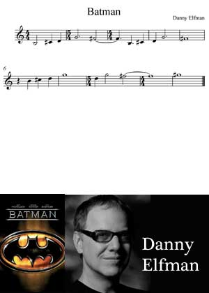Batman By Danny Elfman with sheet music in PDF and video tutorial