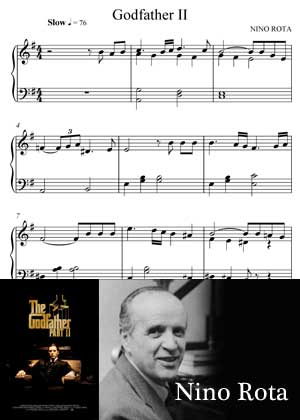 ID33122_The_Godfather_II By Nino Rota Sheet Music With PDF score and a video tutorial in songnes.com