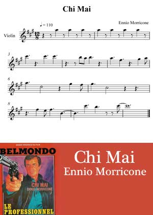 ID33129_Chi_Mai_Melody By Ennio Morricone Movie Theme with sheet music in PDF score and a video tutorial in songnes.com