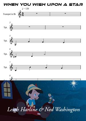 ID33131_When_You_Wish_Upon_A_Star By Leigh Harline and Ned Washington with sheet music in PDF score in songnes.com