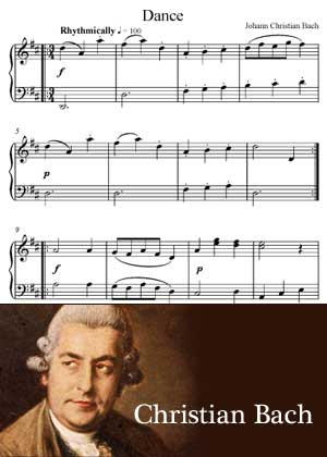 Dance By Johann Christian Bach