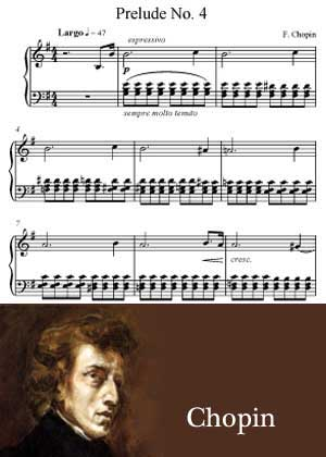 Prelude No 4 By Frederic Chopin