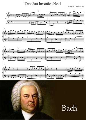 Two Part Invention No. 1 By Johann Sebastian Bach