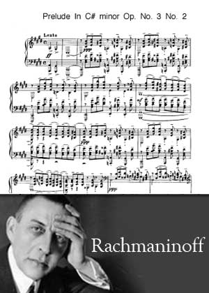 Prelude No. 2 in C Sharp minor By Rachmaninoff with sheet music PDF