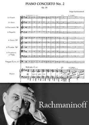 Piano Concerto No. 2 By Rachmaninoff with sheet music PDF