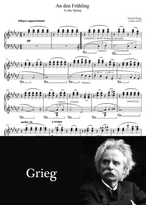 An Den Fruhling By Edvard Grieg with sheet music PDF