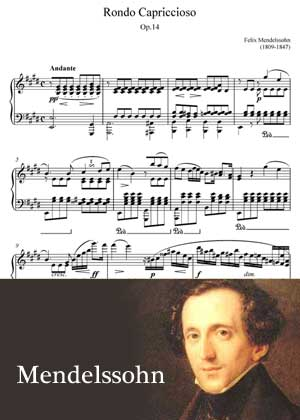 Rondo Capriccioso By Felix Mendelssohn Sheet music in PDF