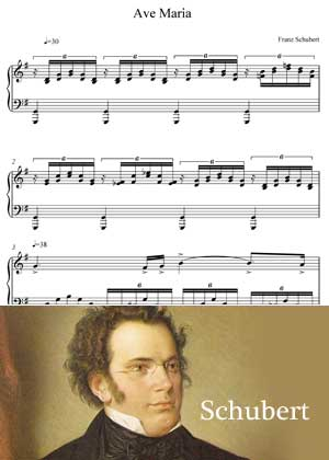 Ave Maria By Franz Schubert with Sheet music in PDF