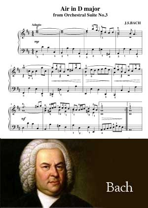 Air In D Major By Bach with sheet music in PDF and video tutorial