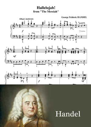 Hallelujah By Handel with sheet music in PDF and video tutorial
