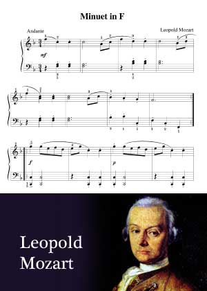 Minuet In F By Leopold Mozart with sheet music in PDF and video tutorial