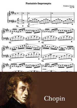ID48123_Fantasie_Impromtu By Chopin with sheet music in PDF and a video Tutorial