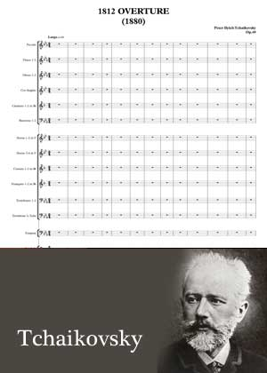 ID48126_Overture_1812 By Tchaikovsky with sheet music in PDF and video tutorial
