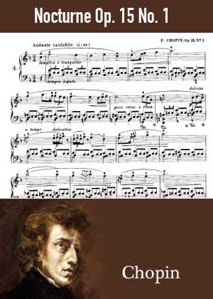 ID48129_Nocturne_Op_15_No_1 By Frederic Chopin with sheet music in PDF score in songnes.com