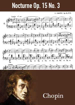 ID48131_Nocturne_Op_15_No_3 By Frederic Chopin with sheet music in PDF score in songnes.com