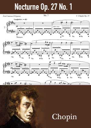 ID48132_Nocturne_Op_27_No_1 By Frederic Chopin with sheet music in PDF score in songnes.com